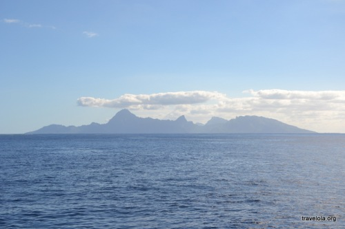 Moorea, as seen from Papeete in Tahiti