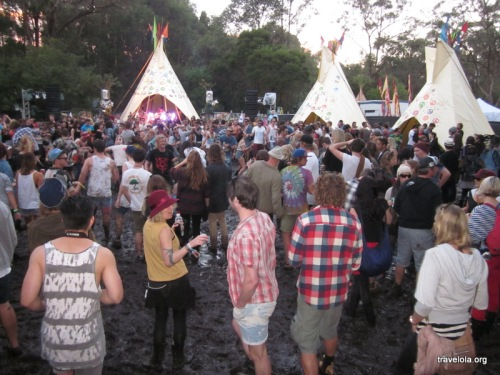 The Tipi Forest stage