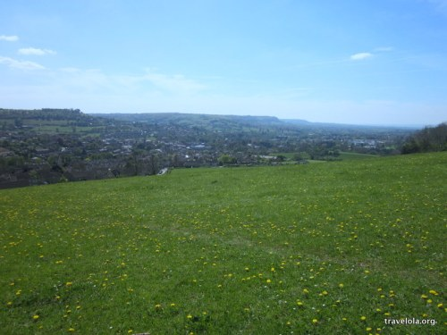 Views down over Stroud