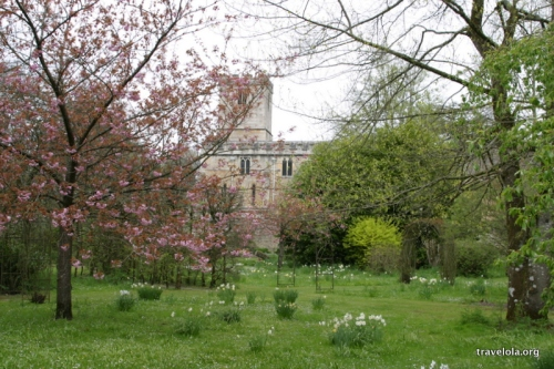 Springtime in an English country garden