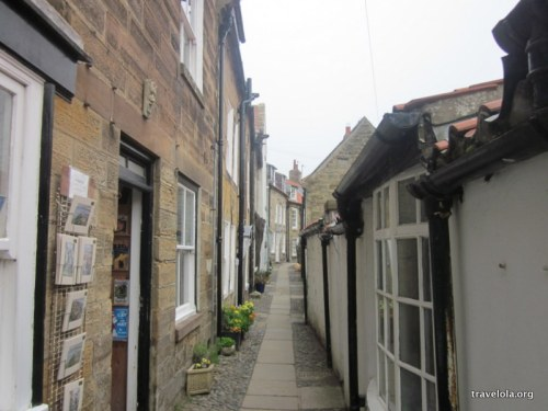 The snug streets of Robin Hood's Bay