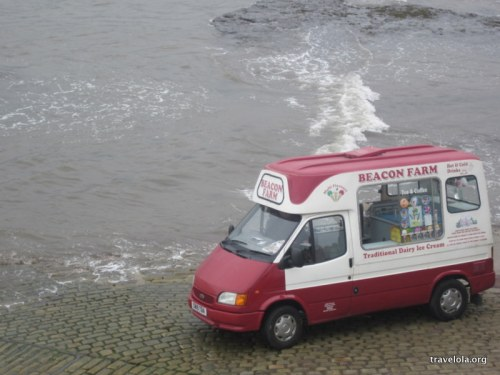 ...and yet the icecream van was doing business.