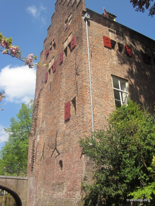 Houses that make up the city walls, Amersfoort, Netherlands