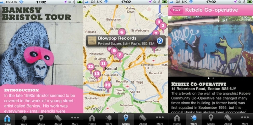 Art goes technical with a car, an iPhone app and a sat nav