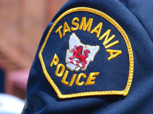 Tasmania police badge on uniform