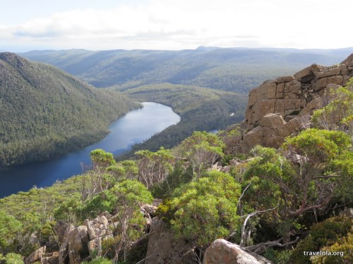 Views down to Lake Seal, Mt Field National Park