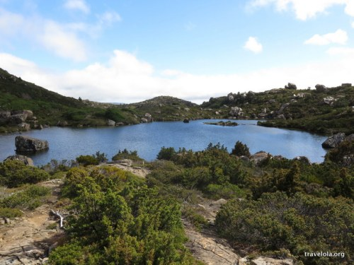 A tarn on top of the Tarn Shelf in Mt Field National Park, Tasmania
